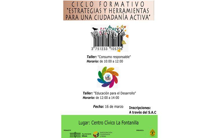 Participación Ciudadana organiza un taller de consumo responsable y uno sobre educación para el desarrollo