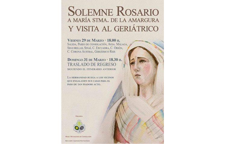 La Virgen de la Amargura visita este fin de semana el geriátrico de La Mulata