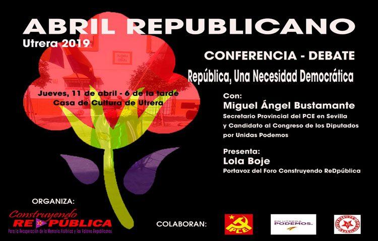 Una conferencia-debate para hablar de la «República, una necesidad democrática»