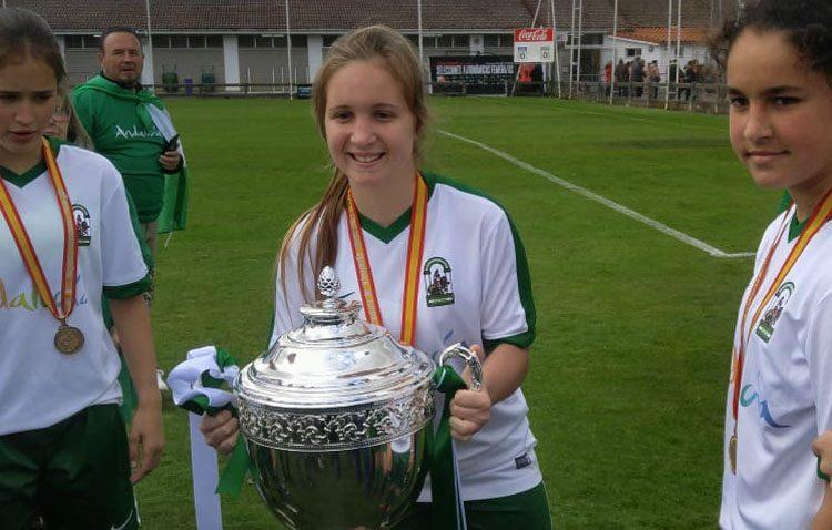 La futbolista utrerana Lidia Rayo, campeona de España sub-15