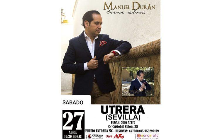 Concierto de Manuel Durán en la sala «Artre» para presentar su nuevo disco