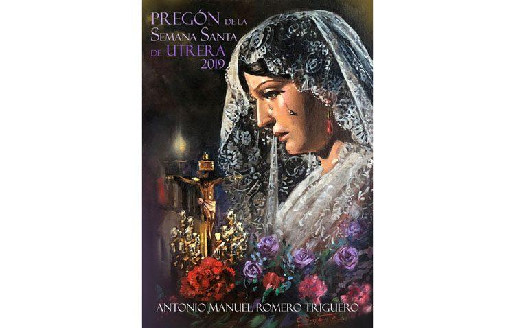 «Locuras de un pregonero», una exposición con las pinturas que ilustran el libro del pregón de la Semana Santa de Utrera