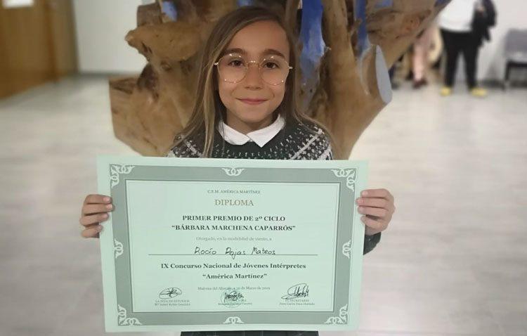 La utrerana Rocío Rojas, primer premio en el concurso nacional de jóvenes intérpretes con 11 años