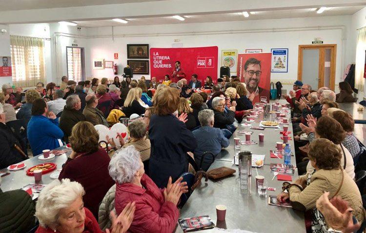 El PSOE se muestra «orgulloso» del mitin celebrado con mayores de Utrera