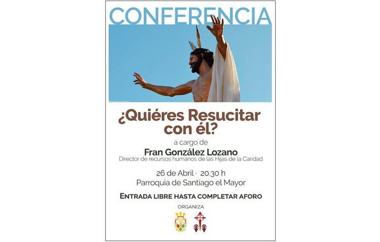 Una conferencia sobre la resurrección de Cristo en la parroquia de Santiago