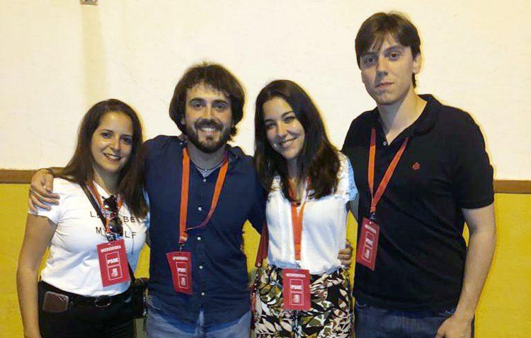 Juventudes Socialistas felicitan a los cuatro miembros de su organización que serán concejales del gobierno de Utrera