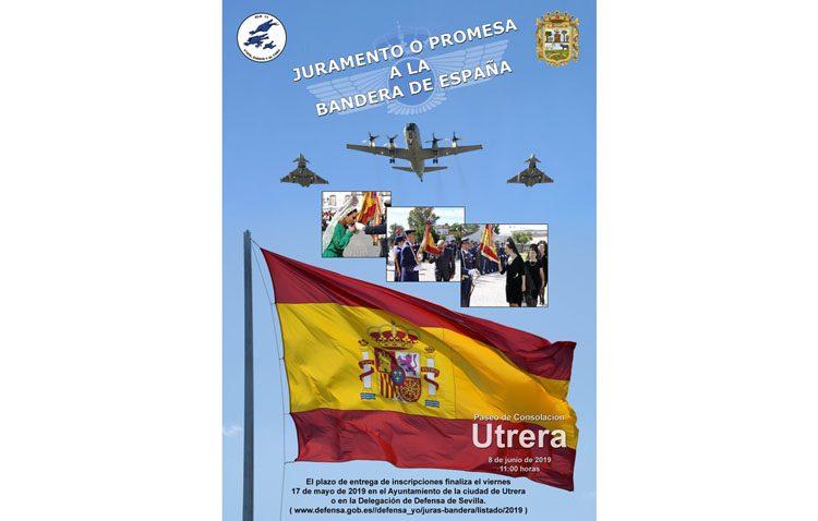 Últimos días para inscribirse en la jura de bandera que se celebrará en Utrera el 8 de junio