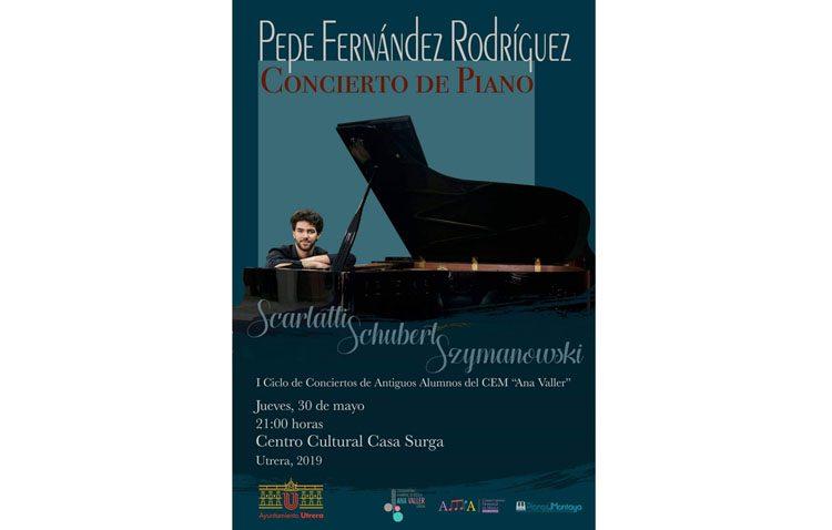 Concierto del pianista utrerano Pepe Fernández en la Casa Surga