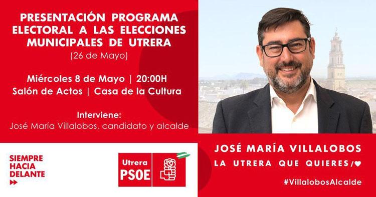 Un mitin sobre cultura y la presentación del programa electoral marcan la semana para el PSOE de Utrera