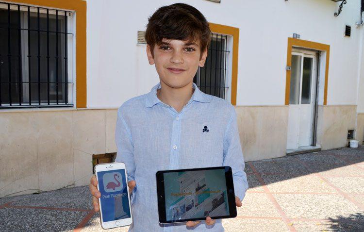 «Pink Flamingo», una red social para jóvenes creada por un utrerano de 13 años