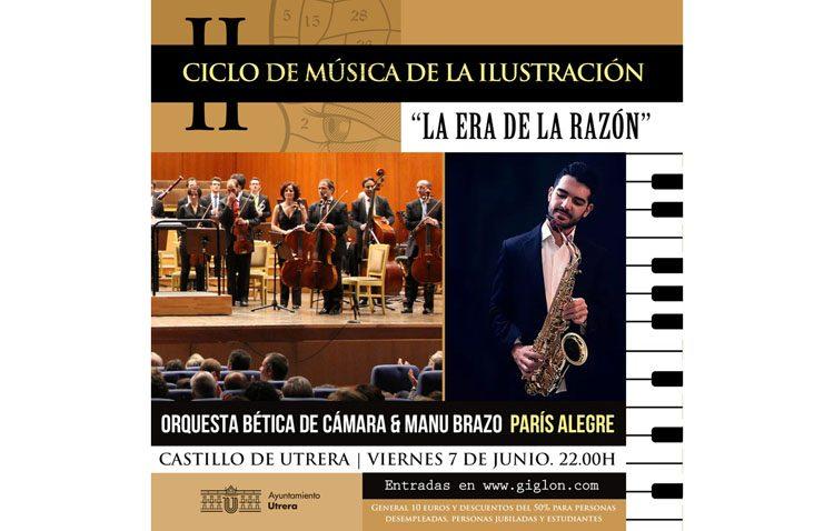 La Orquesta Bética de Cámara y el saxofonista utrerano Manu Brazo, protagonistas de un concierto en el castillo de Utrera