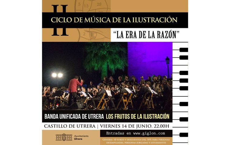La Banda Sinfónica de Utrera lleva al castillo «Los frutos de la Ilustración»