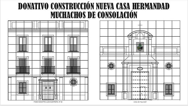 Una campaña especial para continuar la construcción de la casa-hermandad de los Muchachos de Consolación