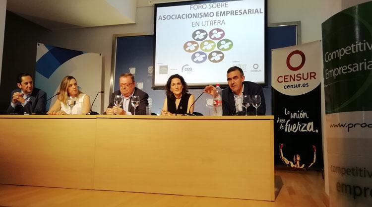 Censur destaca el resultado positivo del foro motivacional sobre asociacionismo empresarial celebrado en Utrera