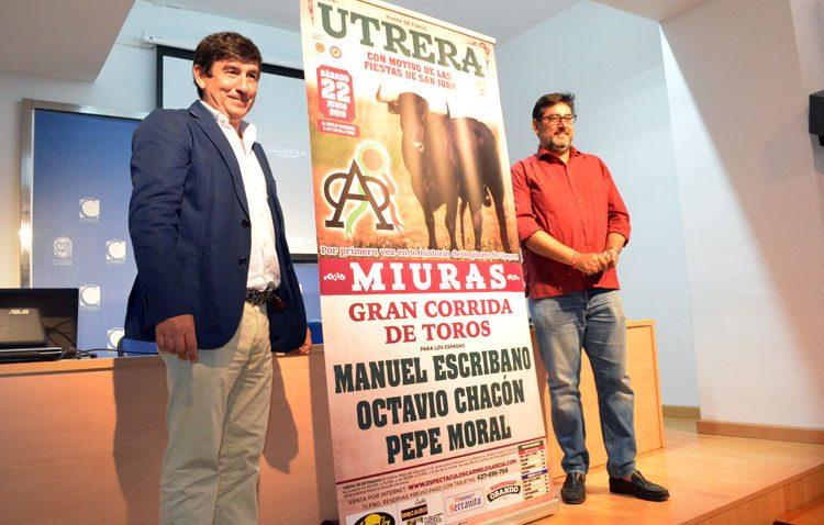 Manuel Escribano, Octavio Chacón y Pepe Moral lidiarán la corrida de toros de Miura el 22 de junio en Utrera