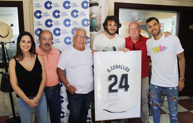 Dani Ceballos pasó por las instalaciones de COPE Utrera antes de marcharse al Europeo sub-21