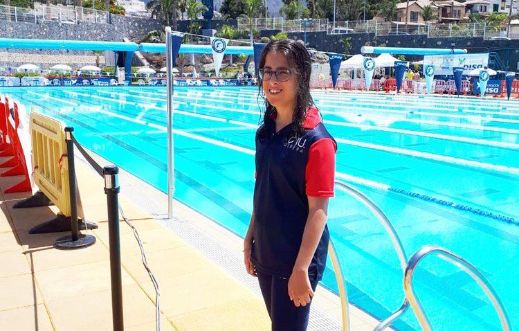 Importantes éxitos para la utrerana Mercedes Rodríguez en el campeonato de España de natación adaptada