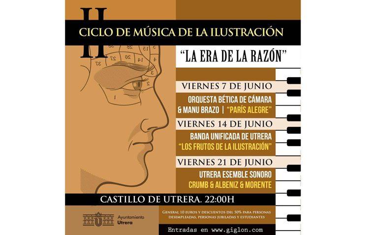 El ciclo de música de la Ilustración propone tres conciertos en el castillo de Utrera durante el mes de junio
