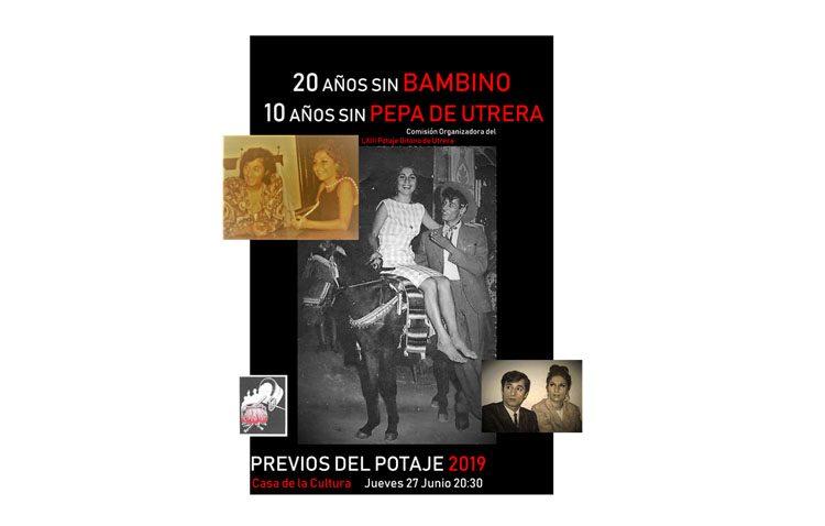 Noche de homenaje a Bambino y Pepa de Utrera en los previos del Potaje Gitano