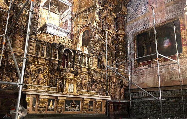 El retablo de Consolación, listo para el comienzo de las obras