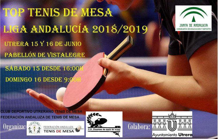 Los mejores jugadores de tenis de mesa de Andalucía compiten en Utrera