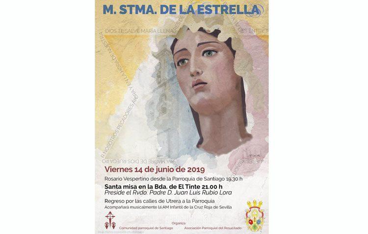 La Virgen de la Estrella visita este viernes la barriada El Tinte