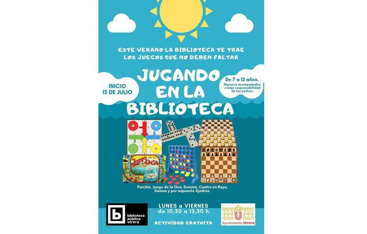 La biblioteca de Utrera se llena de juegos clásicos para el disfrute de los más pequeños durante las vacaciones
