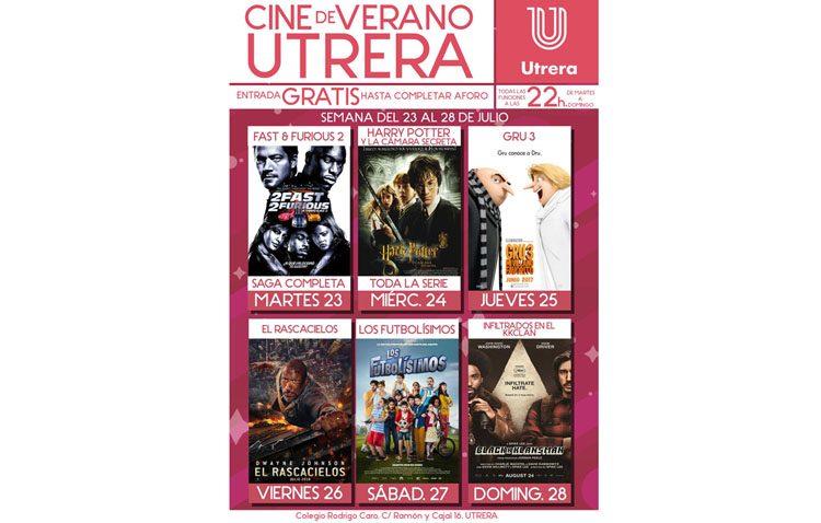 Nueva semana de proyecciones en el cine de verano de Utrera