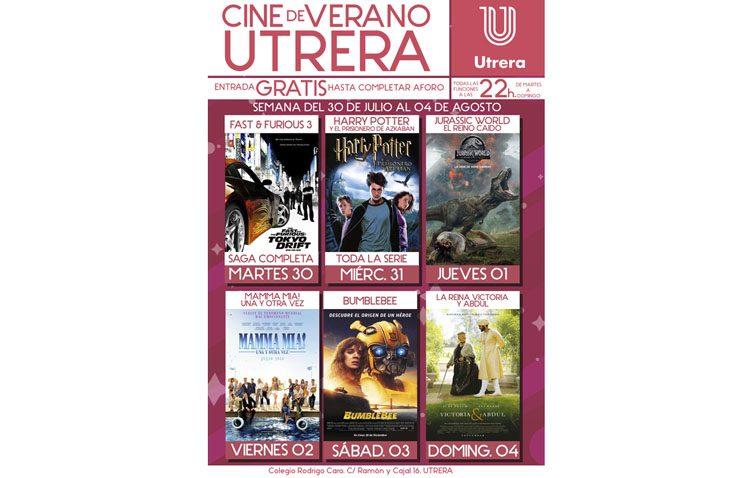 Dinosarios, musicales, acción y comedia para la tercera semana del cine de verano en Utrera