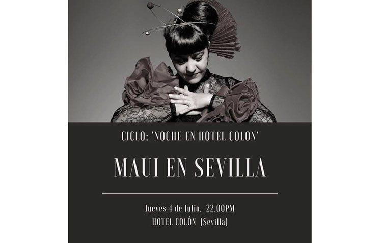 La artista utrerana Maui, en el ciclo «Noches del Hotel Colón»