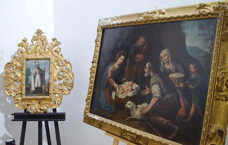 La parroquia de Santiago recupera su patrimonio pictórico (IMÁGENES)