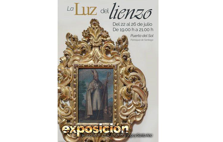 Una exposición con la restauración de los cuadros de la parroquia de Santiago