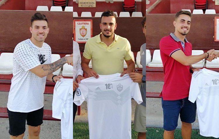 El Club Deportivo Utrera presenta los fichajes de Jesús Blanco, Selu y Pavón