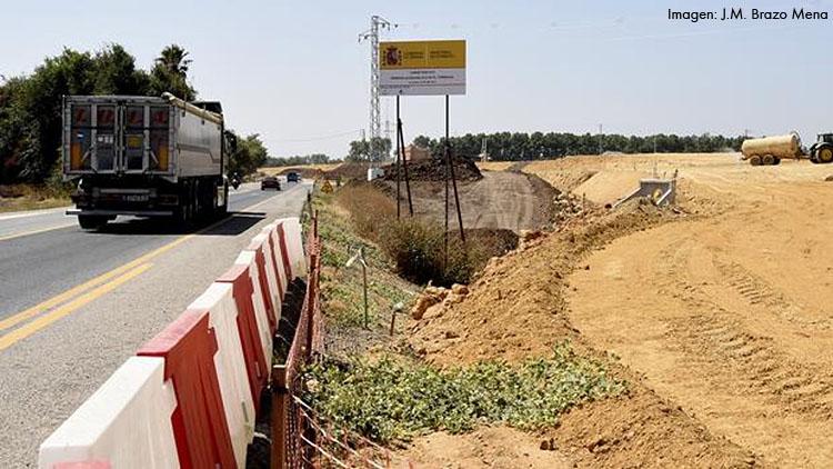 Las obras del enlace de El Torbiscal alcanzan su ecuador