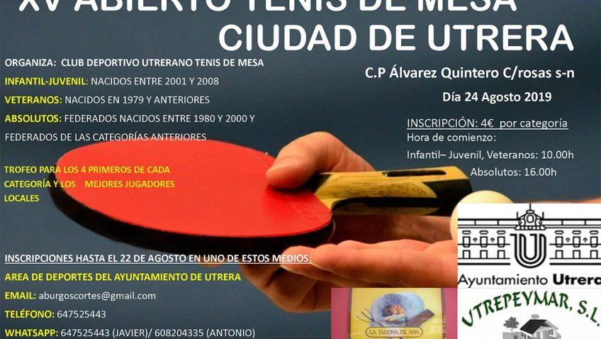 XV abierto de tenis de mesa «Ciudad de Utrera»