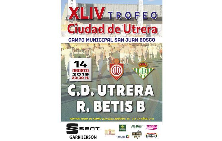 El trofeo «Ciudad de Utrera» enfrenta este miércoles al C.D. Utrera y al Betis B