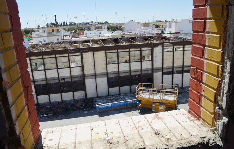 El colegio Coca de la Piñera transforma un antiguo aulario en un gimnasio