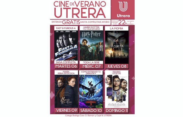 Cuarta semana de cine de verano con otras seis películas en el patio del colegio Rodrigo Caro