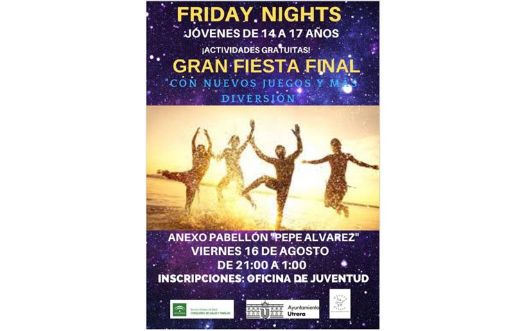 Una fiesta final para culminar el programa de ocio para jóvenes «Friday nights»