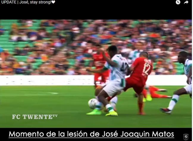 Emotivo homenaje de su equipo a José Joaquin Matos tras la lesión sufrida en el campo de juego holandes.