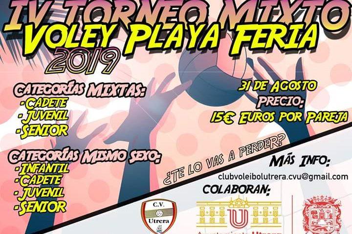 El Club Voleibol Utrera organiza su torneo mixto de voley playa