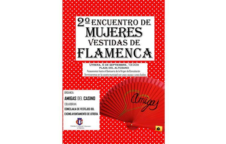 Un encuentro de mujeres vestidas de flamenca organizado por «Amigas del Casino»