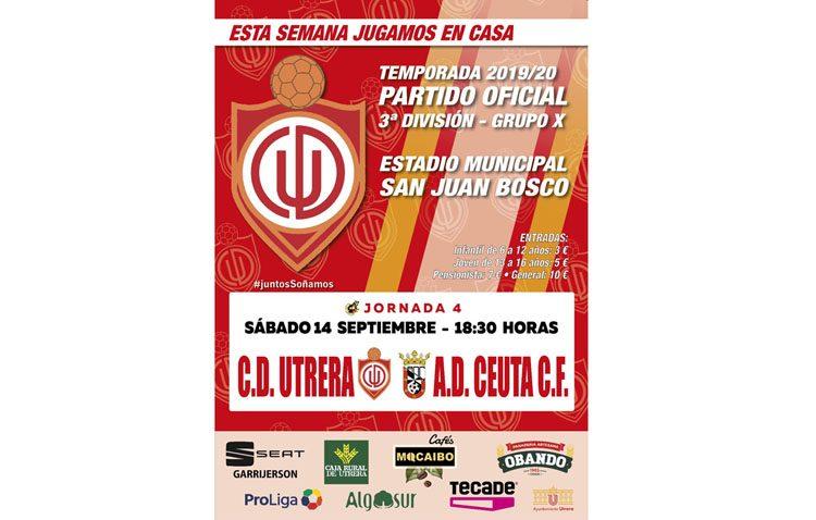 CD UTRERA – AD CEUTA: El Utrera recorre el cuarto kilómetro de la temporada