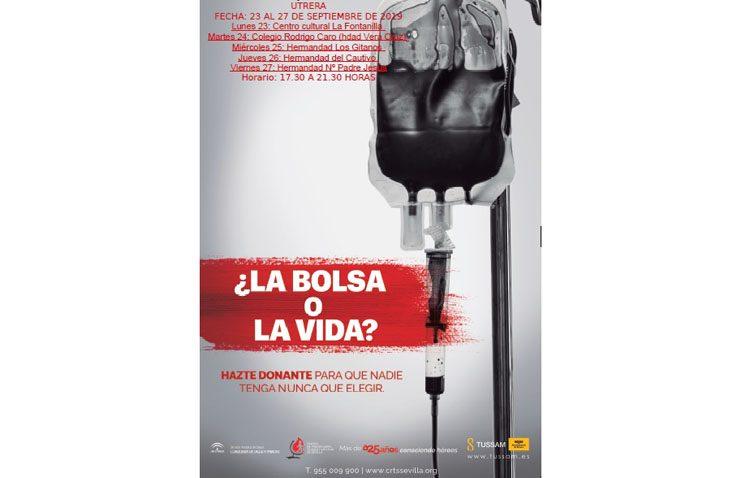 Una campaña con cinco días de donaciones de sangre en Utrera