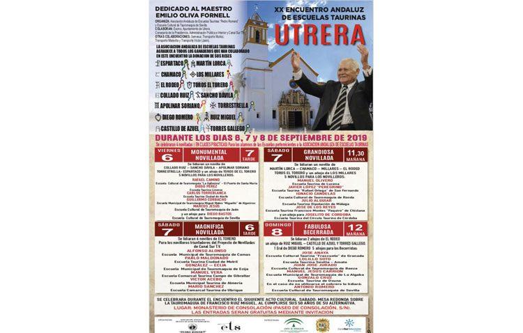 Comienza en Utrera el encuentro andaluz de escuelas taurinas con un acto de inauguración y una novillada