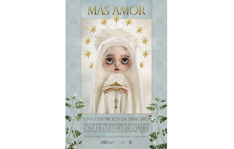 Erregiro abre su exposición «Más amor» en la Casa de la Cultura de Utrera