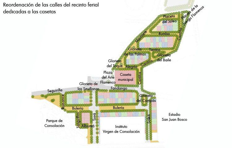 El recinto ferial de Utrera experimentará importantes cambios en 2020, con la creación de nuevas calles y la mejora de espacios