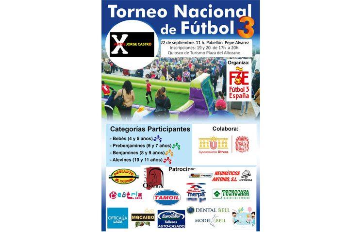El torneo nacional de fútbol 3 se traslada al pabellón «Pepe Álvarez» por la previsión de lluvias