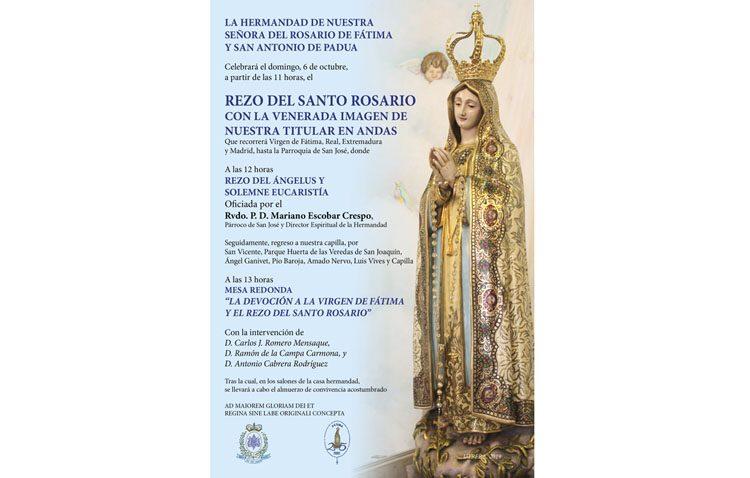 Visita de la Virgen de Fátima a la parroquia de San José y mesa redonda sobre esta devoción