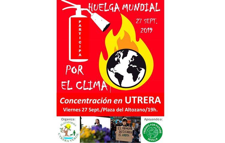La plataforma «Utrera verde» se suma a la huelga mundial por el clima